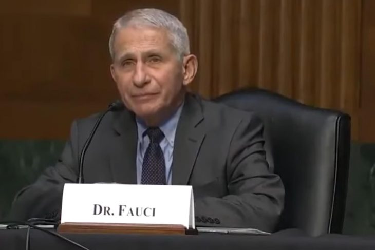 Did doctor Tony Fauci say that half of his staff have taken a Covid vaccination?